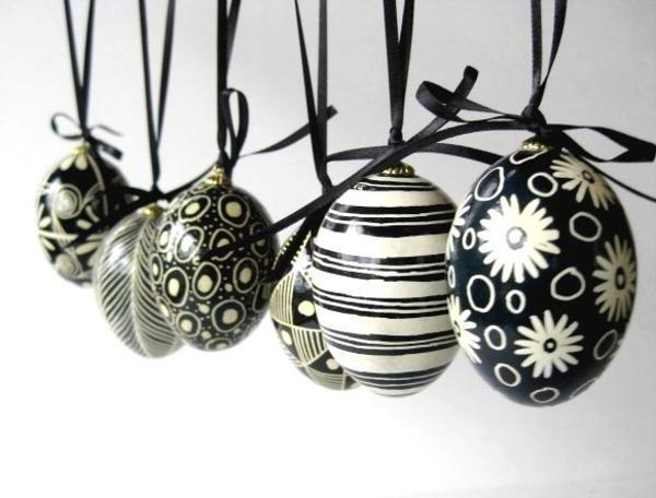 Black White Easter Eggs